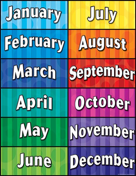 Months of the Year Chart - TCR7628 | Teacher Created Resources