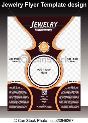 jewelry flyer template design vector illustration