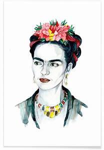 Frida Kahlo Kissen : frida kahlo als poster von susana miranda ilustraci n juniqe ~ One.caynefoto.club Haus und Dekorationen