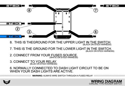 switch wiring diagram rocker switches carling type
