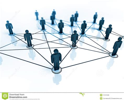 Connected People Stock Illustration. Illustration Of Group