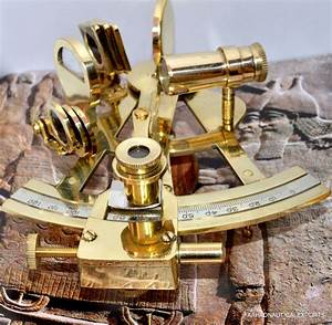 4 U0026quot  Solid Brass Sextant Nautical Working Instrument Astrolabe Ships Maritime Gift