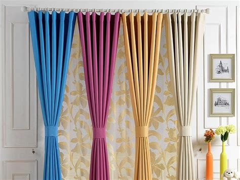 Home Curtain : Colorful Minimalist Home Curtain Design-home Ideas