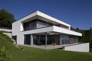 plan maison contemporaine sur terrain en pente With maison sur terrain en pente