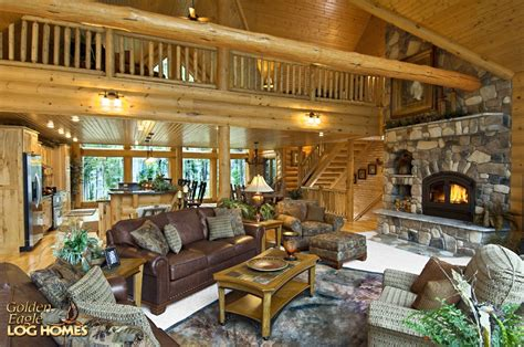 log homes interiors golden eagle log and timber homes log home cabin pictures photos lakehouse 3352al