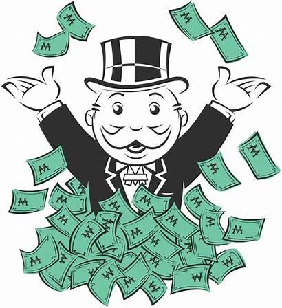 Monopoly Money Rich Bag Clipart Jail Uncle
