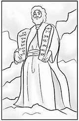Coloring Pages Bible Commandments Printable Moses Ten Sunday Crafts Mandamientos Moises Los God Sheet Sheets Calvary Activities Activity Calvarywilliamsport Children sketch template