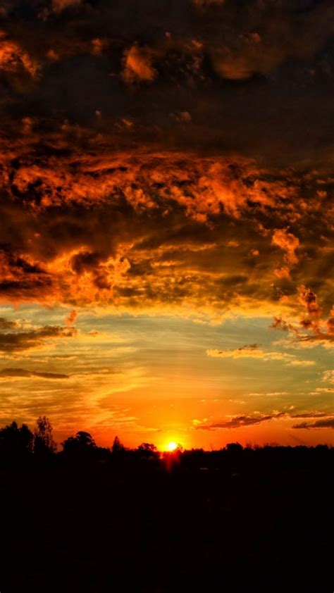 Orange Sky Wallpaper Iphone by Sunset Clouds Orange Sky Wallpaper Background Iphone