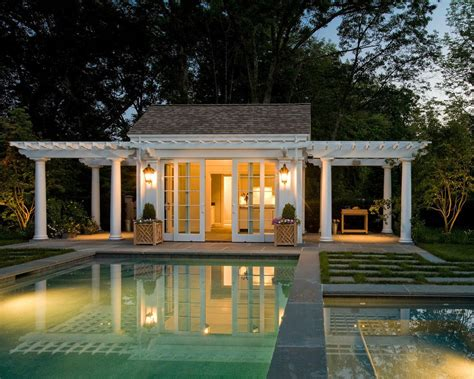 large pool house decorating ideas pool traditional