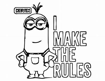 Minion Minions Coloring Pages Kevin Printable Adult