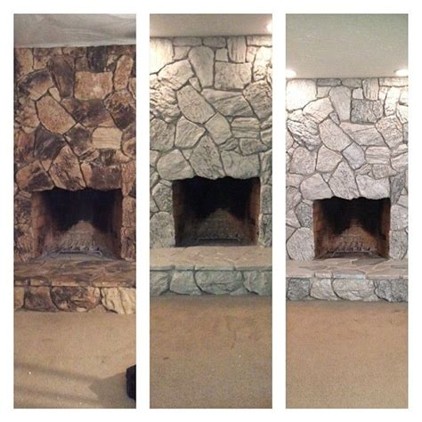 transforming 70 s rock spray rock with valspar weathered fossil then paint some rocks