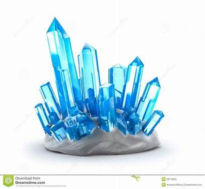 Crystals Crystal Clipart Growing Clear Isolated Quartz