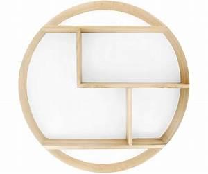 Etagère Design Pas Cher : grande tag re murale ronde scandinave en bois fond blanc ~ Dailycaller-alerts.com Idées de Décoration