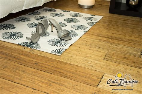Distressed Natural Fossilized Bamboo Flooring   Cali