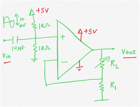 Non Inverting Amplifier Single Supply Bipolar Input