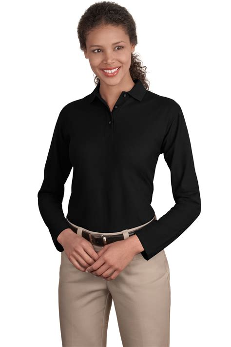 Ladies Long Sleeve Polo Shirts Vernon Promotions