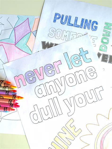 kid quote coloring pages capturing joy  kristen duke