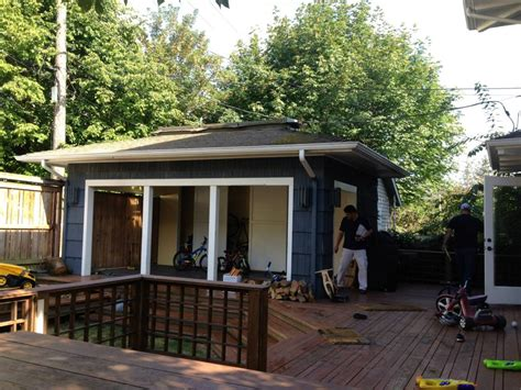 outdoor before and after lochwood lozier custom homes
