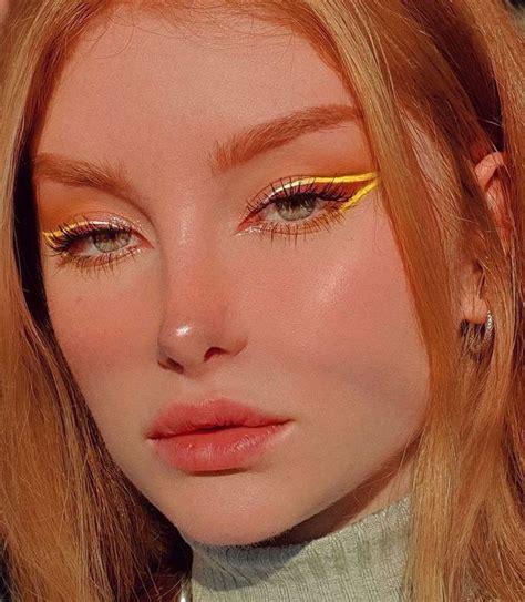 stylegps yellow eyeliner  rozovyy makiyazh glaz trendy makiyazha idei makiyazha