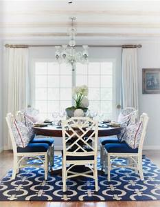 Blue, And, White, Chinoiserie, Dining, Room