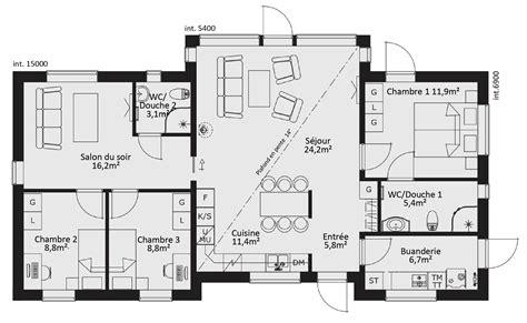 plan maison 5 chambres plain pied catalogue plain pied karisma 5 ma