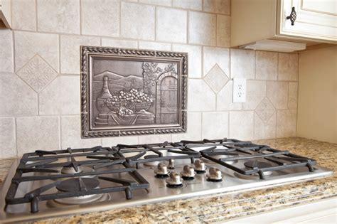 metal medallion backsplash home designs