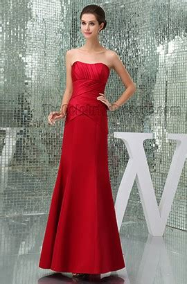 elegant red strapless prom gown evening formal dresses