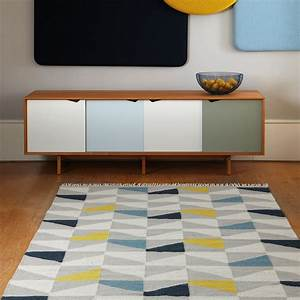 tapis design type kilim tisse main gris jaune et bleujpg With tapis kilim avec canapé souple