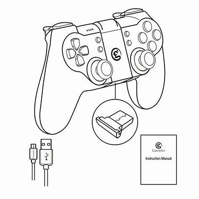 Controller Gaming Xbox Drawing T1s Gamesir Gamepad