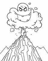 Volcano Coloring Eruption Ash Drawing Cloud Deadly Volcanoes Colouring Clipart Volcanos Emoticon Ghost Printable Netart Again Bar Looking Case Don sketch template