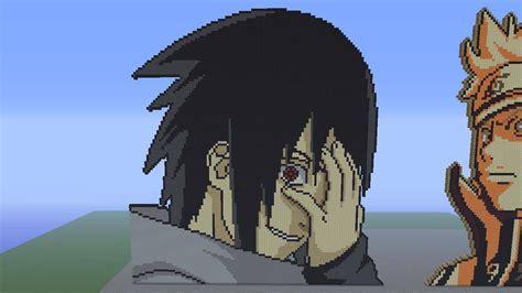 Sasuke Uchiha Eternal Mangekyou Sharingan Pixel By