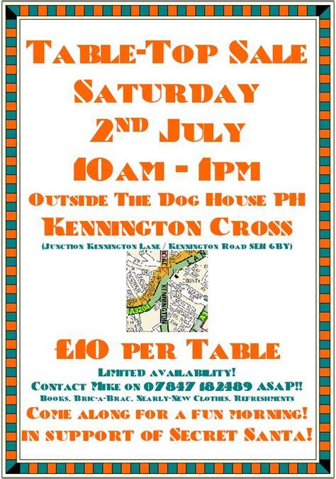 kennington news table top sale saturday  july