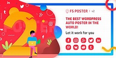 FS Poster v2.7.4 - WordPress auto poster & scheduler - Nulled