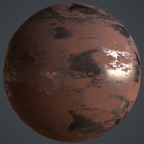 pbr metal iron rusted material materials metals