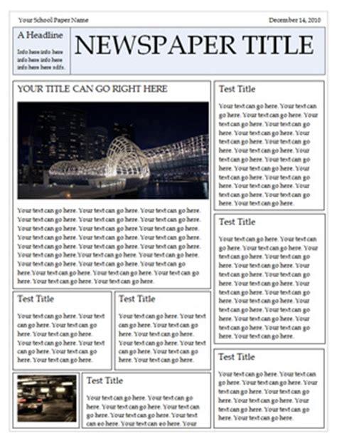 newspaper template  word newspaper template