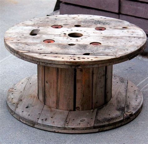 large wooden spools used for tables let 39 s stay spool tables