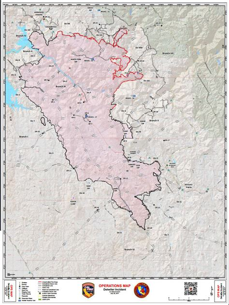 daily operations map  detwiler wildfire  mariposa