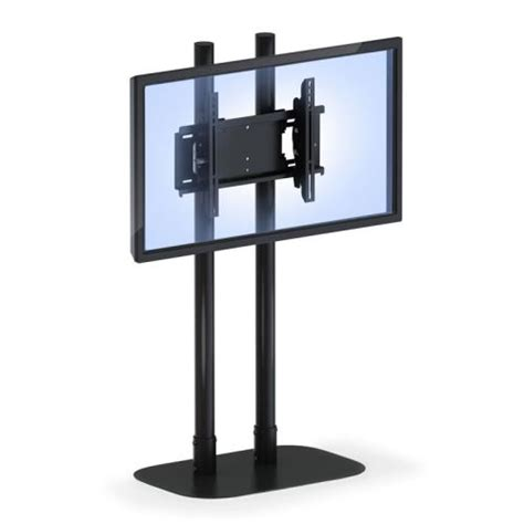 Mobile Security Lcd Computer Cabinet by Tv Floor Stand With Mounting Bracket Afcindustries Com