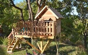 Cabane Dans Les Arbres Construction : construction d 39 une cabane dans les arbres pour enfants saint saturnin les apt en luberon ~ Mglfilm.com Idées de Décoration