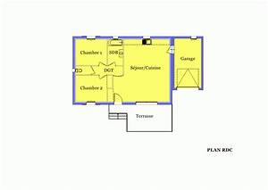 villa sur plan modele amaryllis 70 m2 a construire dans With plan maison plain pied 70m2