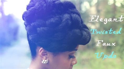 faux updo protective hairstyle hair tutorial  natural