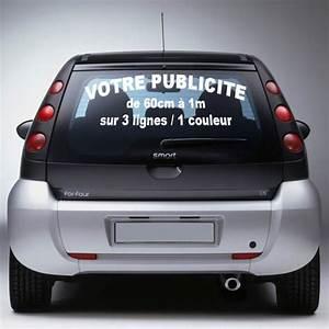 Autocollant Personnalisé Pour Voiture : autocollant publicitaire personnalis par pare brise ~ Voncanada.com Idées de Décoration