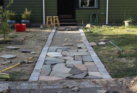 stone sidewalk ideas breakpr