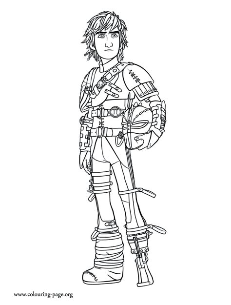 train  dragon  older hiccup coloring page