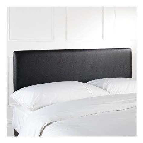black faux leather double kingsize upholstered headboard