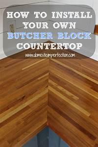 how to install a countertop Butcher Block Countertops | Modern Diy Art Designs
