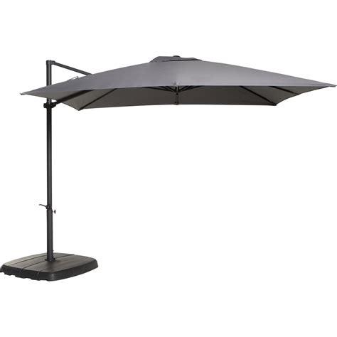 parasol d 233 port 233 argos gris zingu 233 rond l 300 x l 300 cm leroy merlin