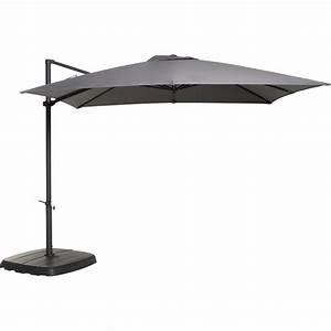 Parasol Rectangulaire Leroy Merlin : parasol d port argos gris zingu rond x cm ~ Farleysfitness.com Idées de Décoration