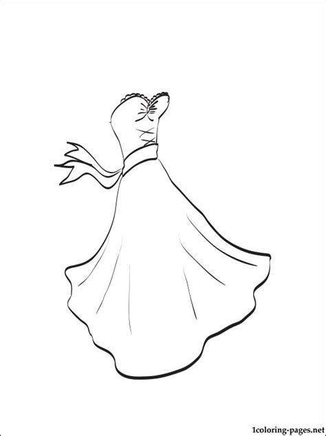 Trouwjurk Kleurplaat by Wedding Dress Coloring Page Coloring Pages