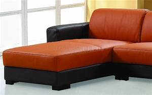 orange leather sectional more views With orange leather sectional sleeper sofa